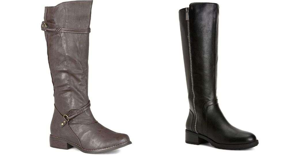gray and black riding boots