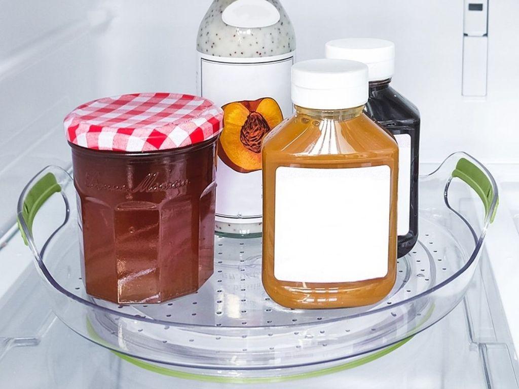 madesmart storage turntable w/ condiments