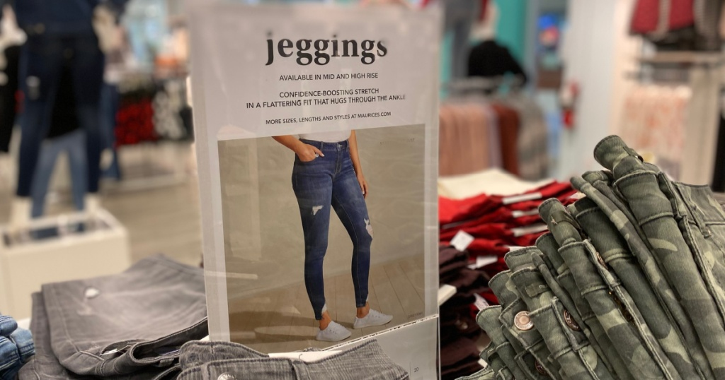 maurices jeggings sign in store