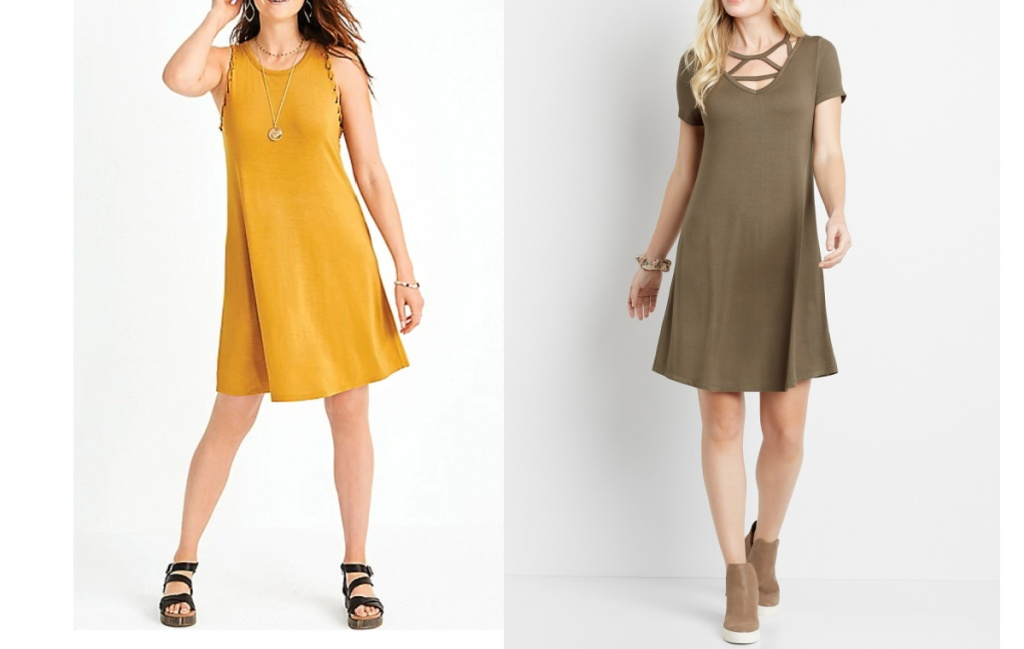maurices womens dresses yellow and green