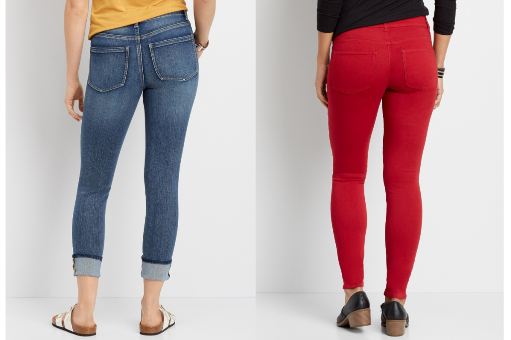 maurices womens jeans blue jeans and red