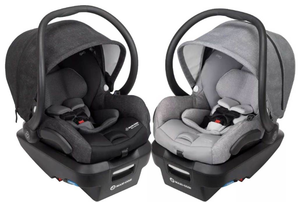 two car seats in dark gray and light gray