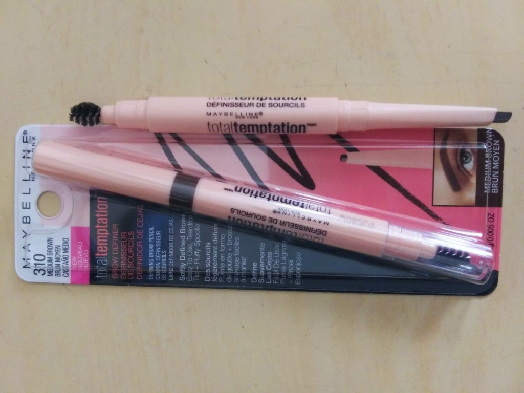 Maybelline Brow Pencil next to packaging