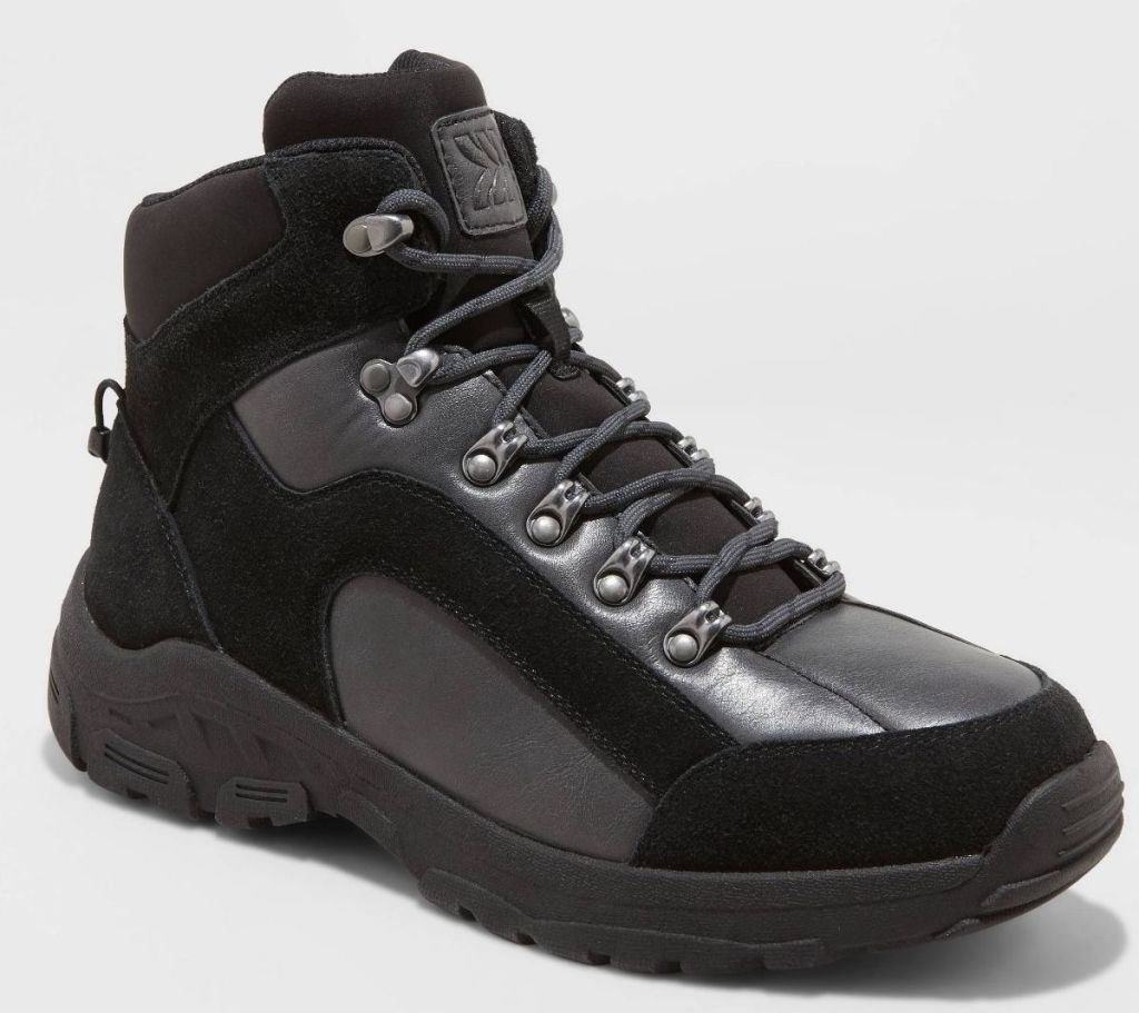 mens black winter boots