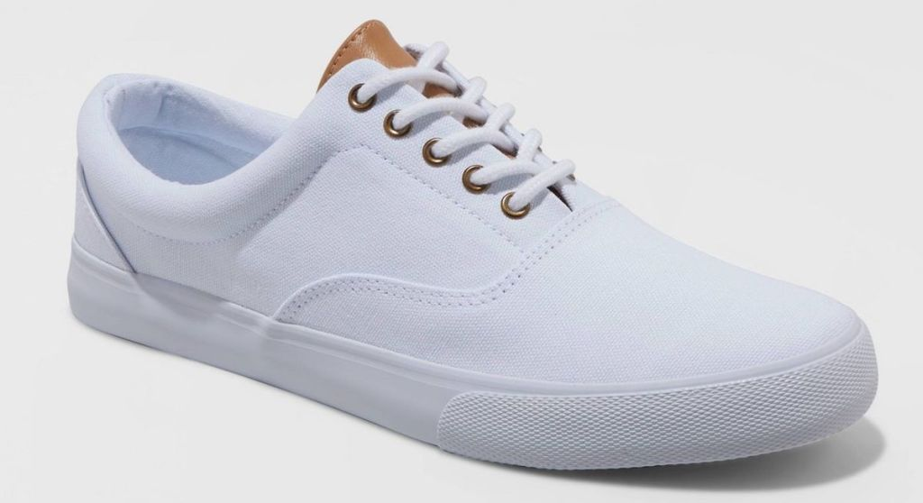 mens park sneakers in white with ties