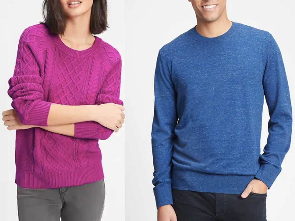 women and men sweaters