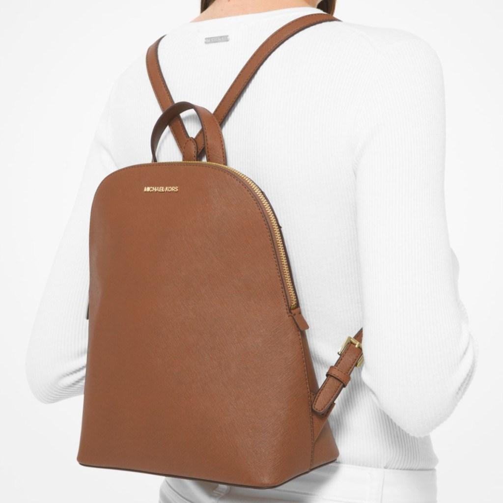 michael kors saffiano backpack