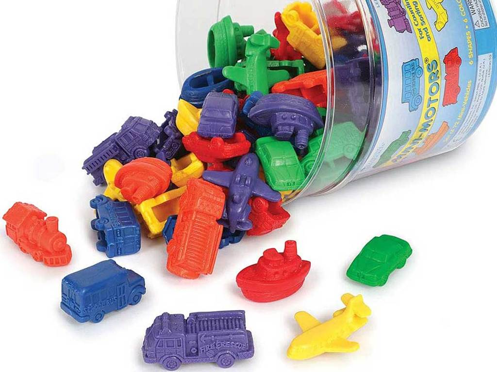 bucket of mini motors cars etc