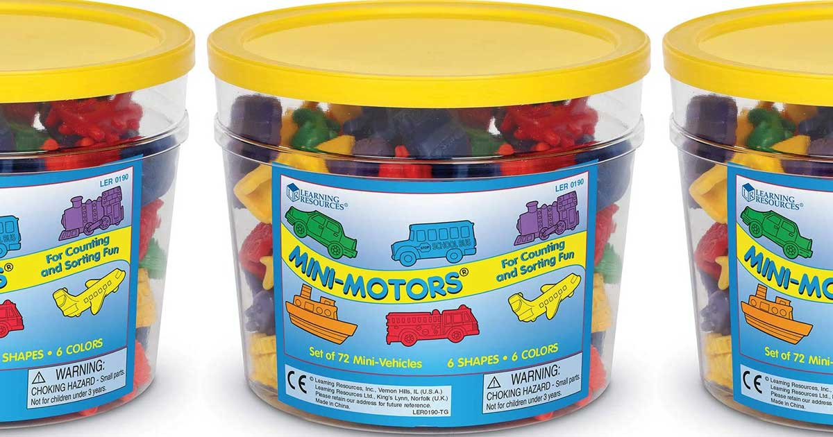 bucket of mini motor cars and more