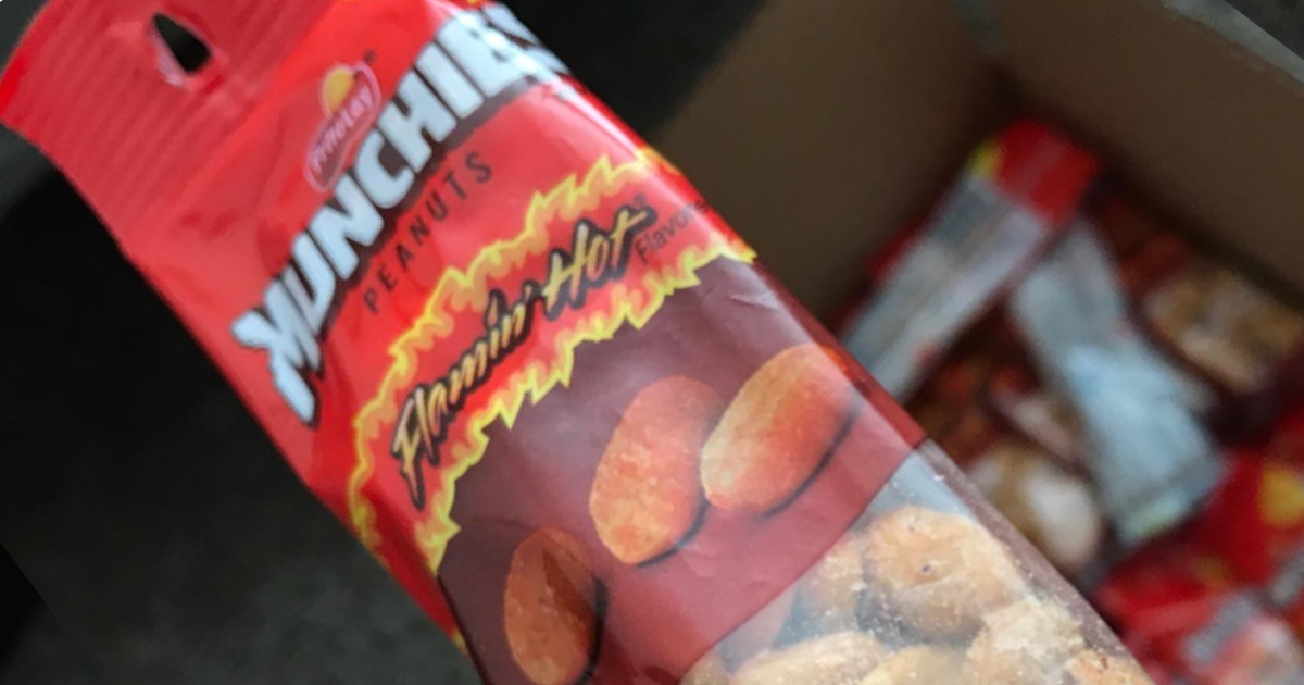 munchies flamin hot peanuts