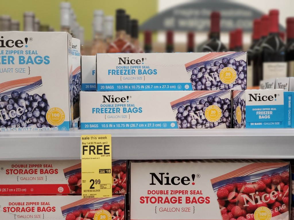 nice! freezer bags in store at walgreens