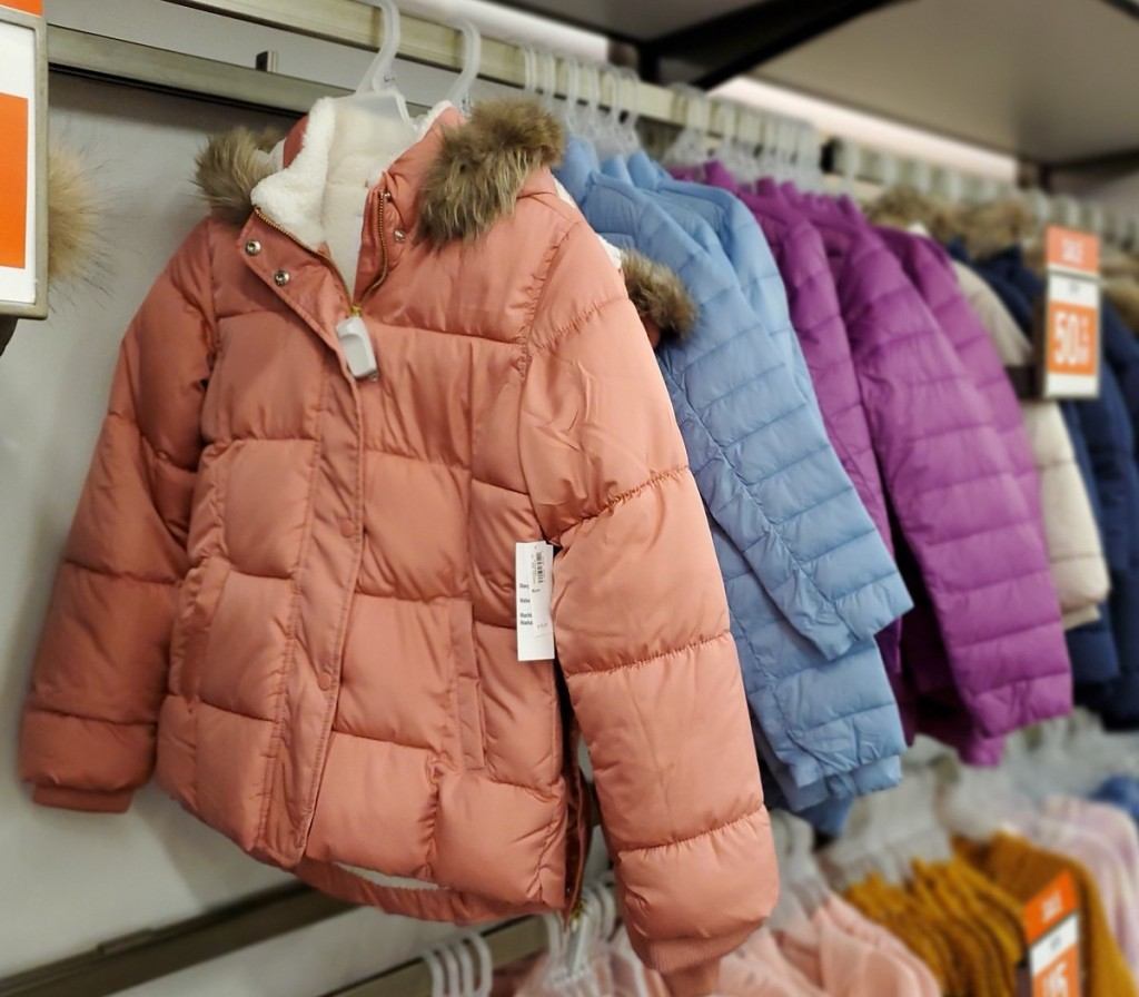 old navy toddler puffers in store