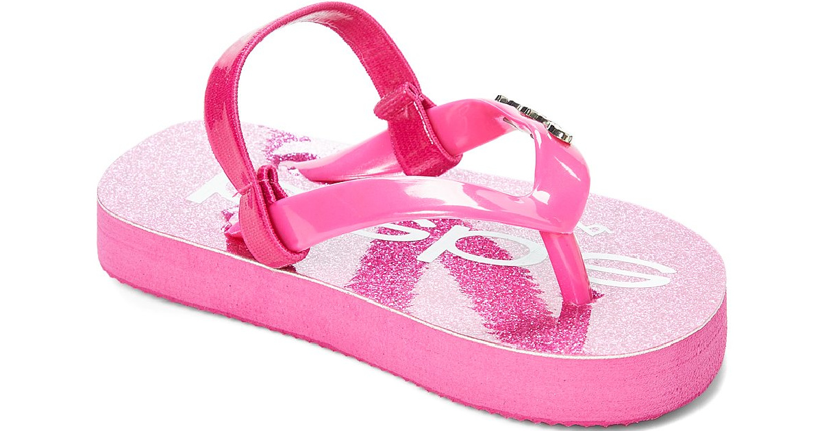 pink glittery bebe kids sandal