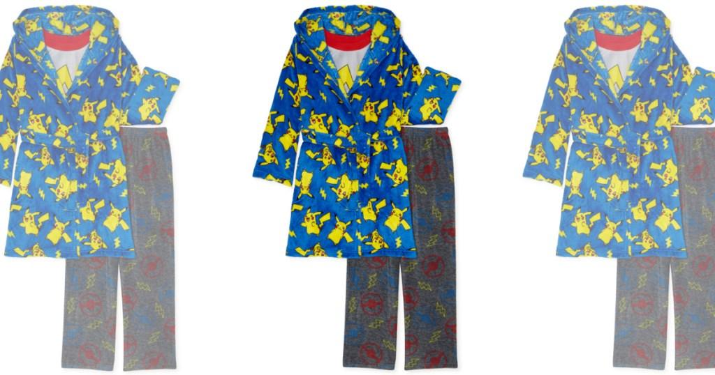 boys Pokémon robe and pajama set