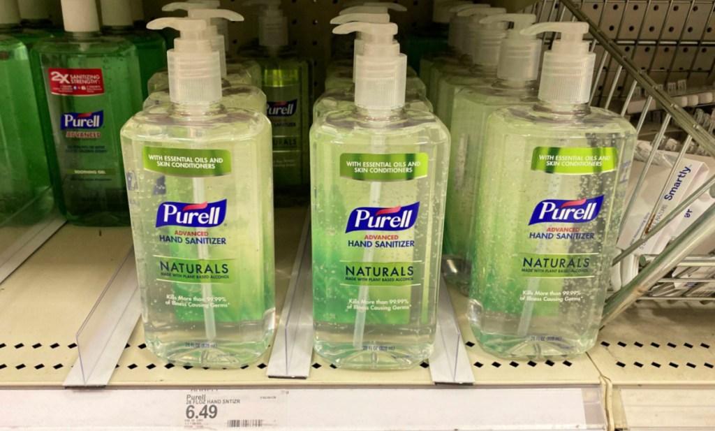 purell naturals on shelf at Target