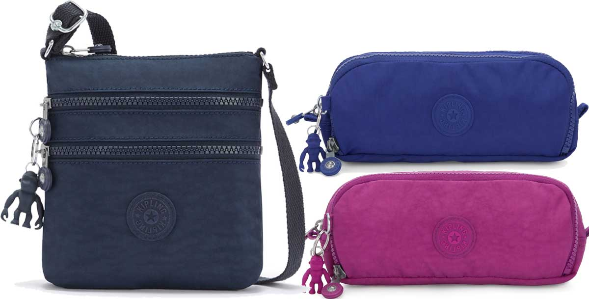 kipling cross body purse and pencil cases