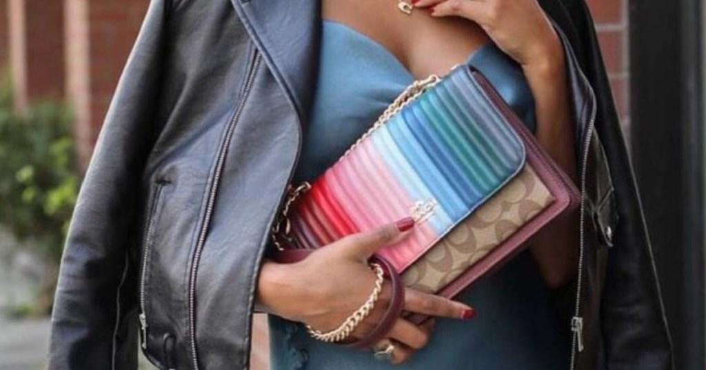 rainbow coach purse