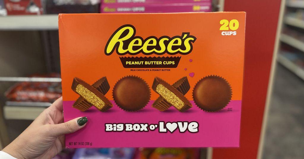 Holding Reese's Big Box O' Love