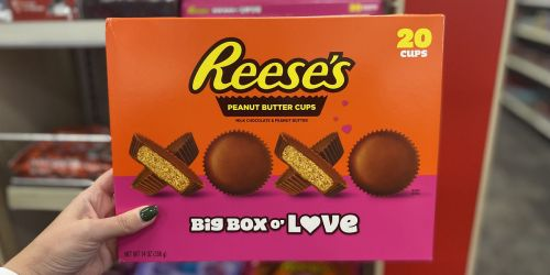 Reese's Big Box o' Love is Filled w/ Almost 1 Pound of Peanut Butter Cups