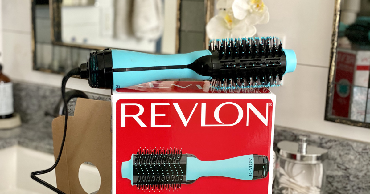 revlon all in one styler on top of the box