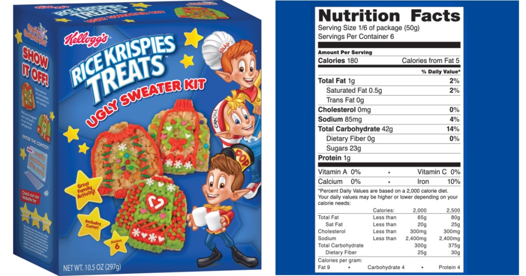 rice kripies treat ugly sweater front and back