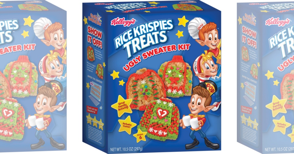 three boxes rice krispie kit top