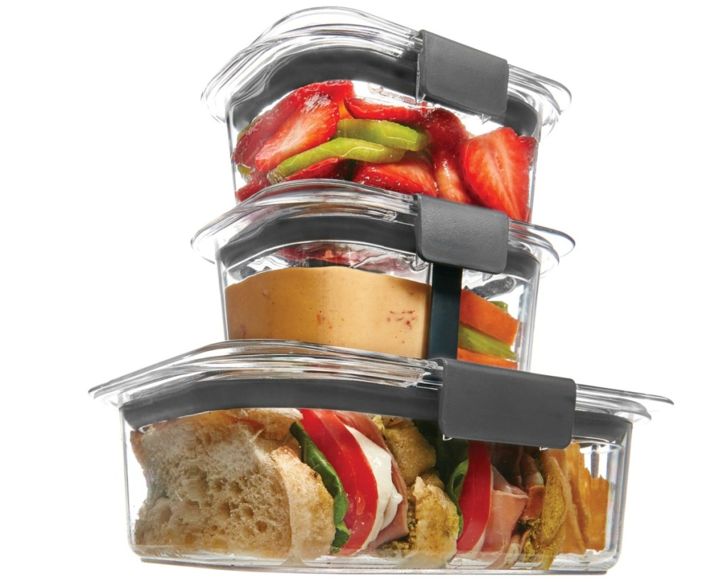 rubbermaid brilliance sandwich size stacked