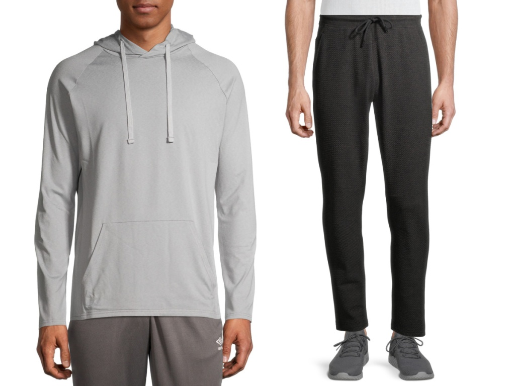 russell mens gear hoodie and pants