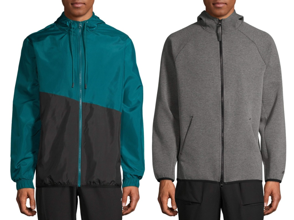 russell mens jackets teal and gray