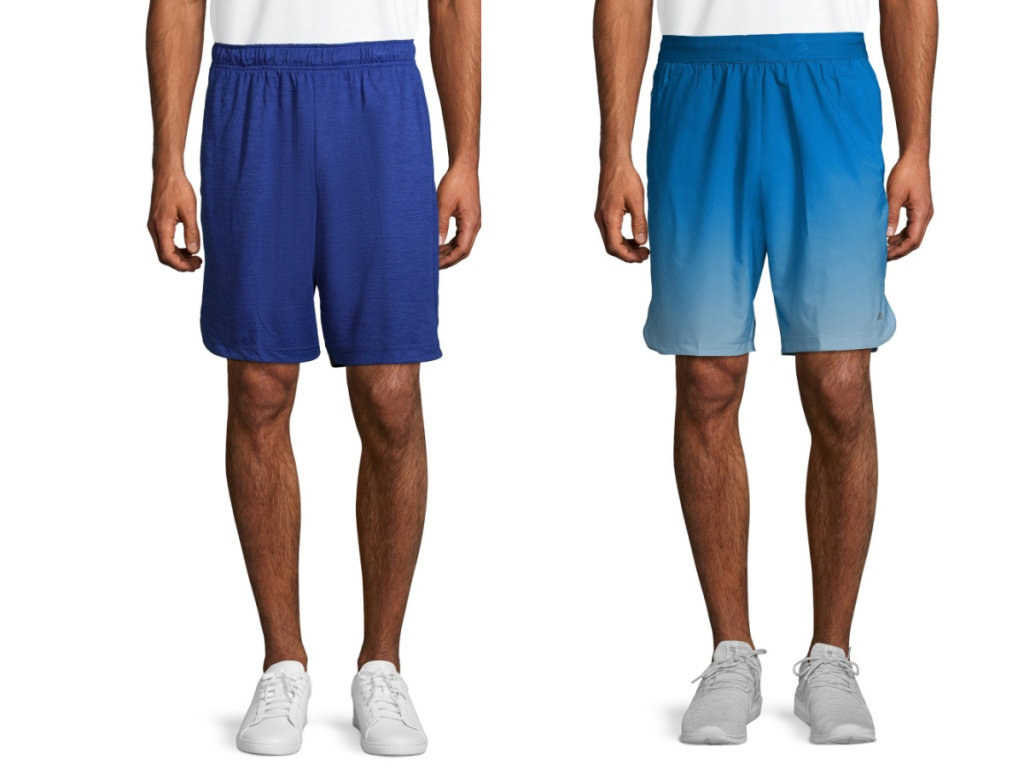 russell mens shorts two blue pairs