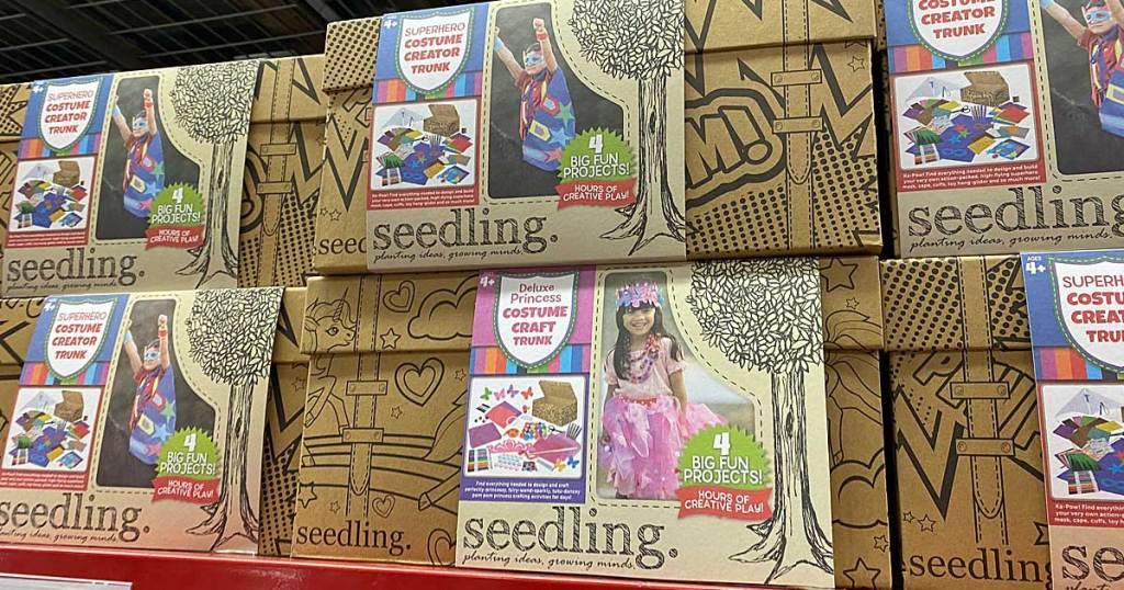 costume boxes of super hero and princess