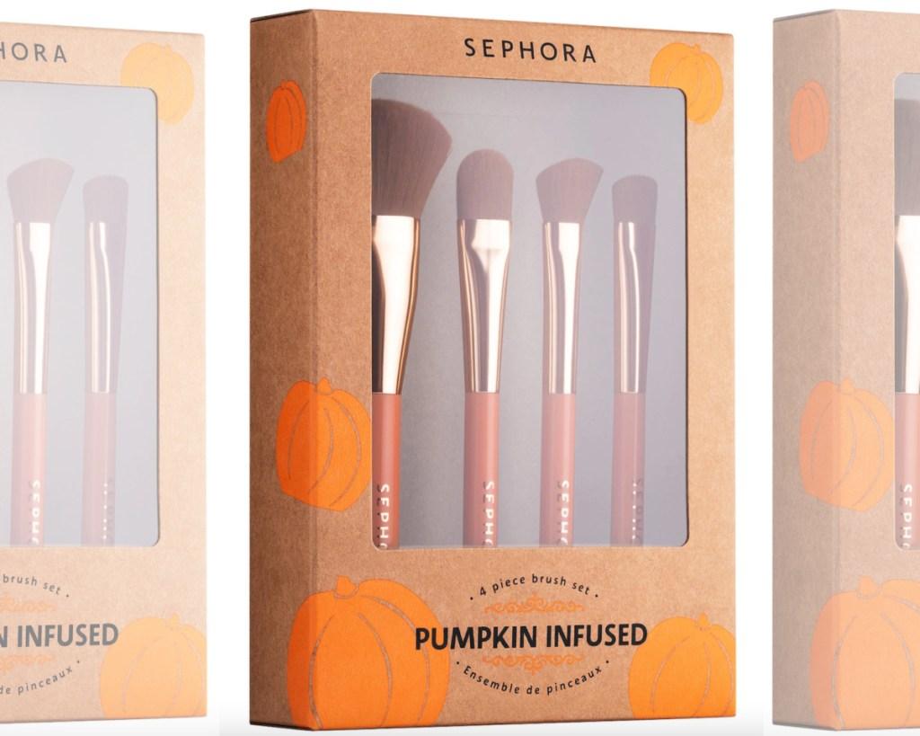 sephora pumpkin brushes set in box