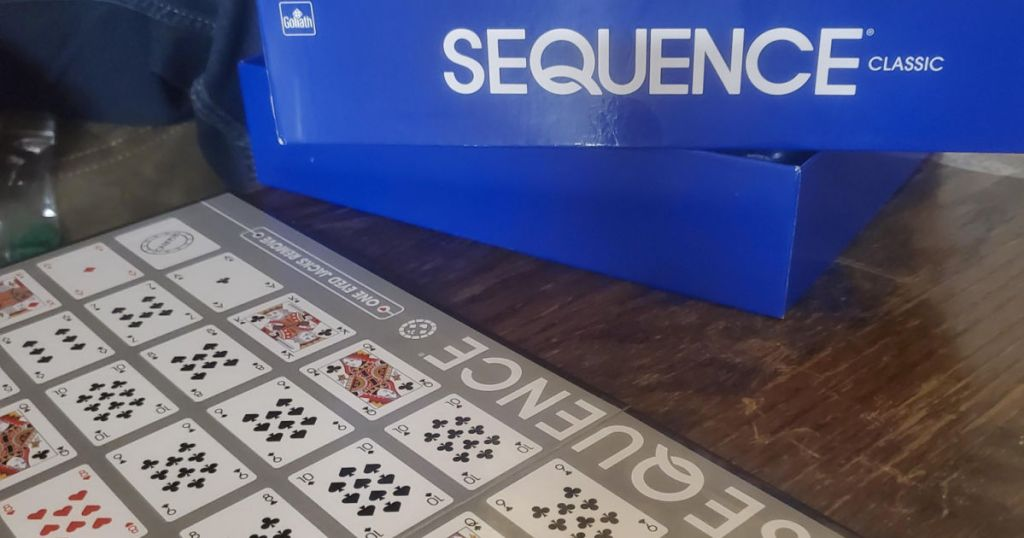 Sequence board game out of box