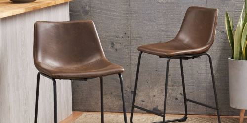 Trendy Leather Barstools Just $55.50 Each Shipped on Target.com