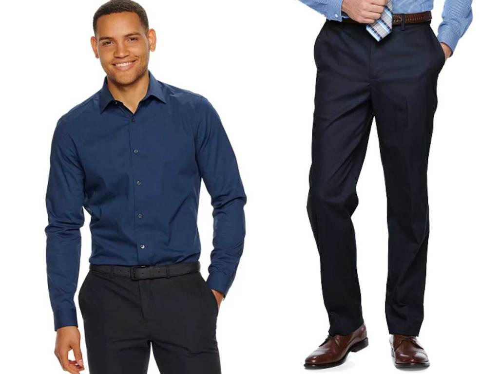 mens shirt and dress pants