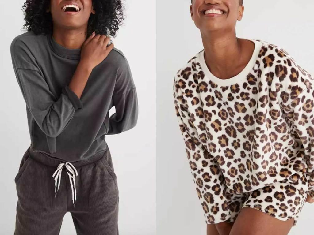models wearing comfy shirts