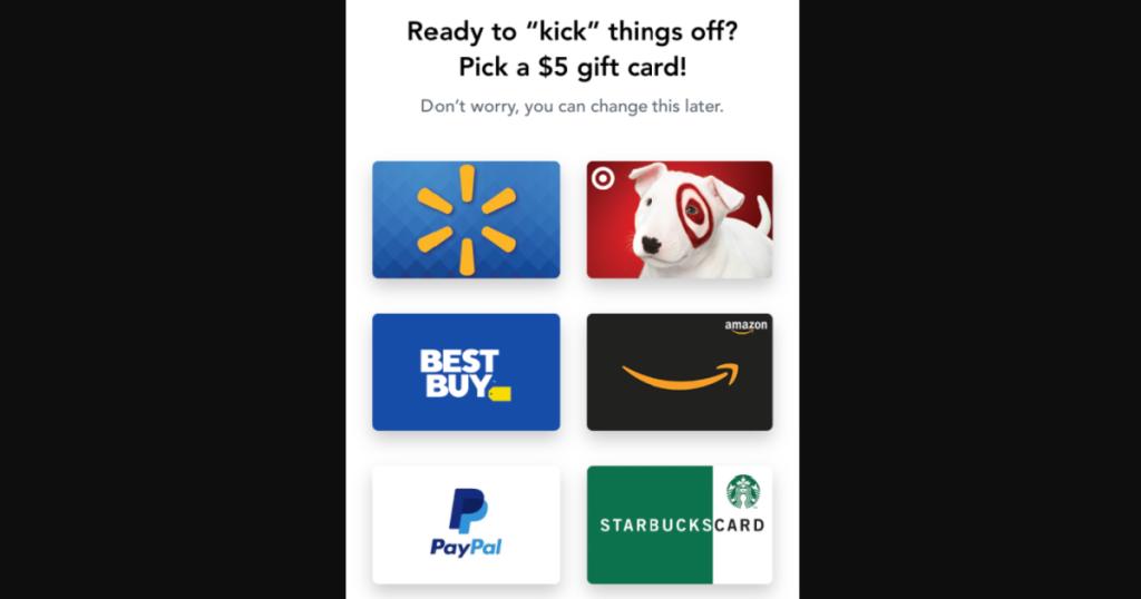 Shopkick rewards gift card options