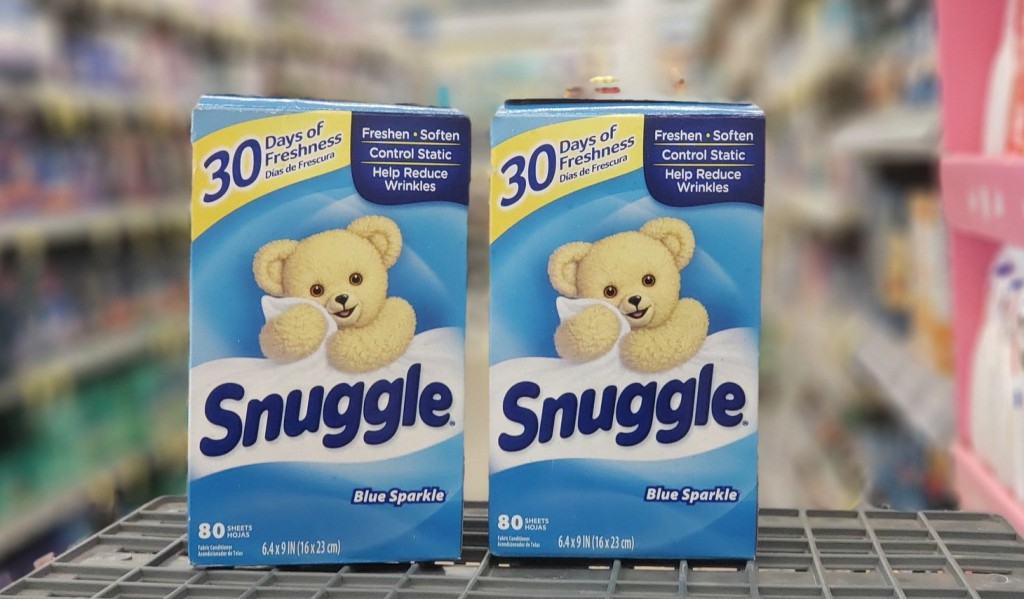 snuggle dryer sheets in store