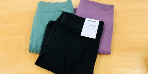 Sonoma Goods for Life Women's Leggings Just $6.79 on Kohls.com (Regularly $16+)