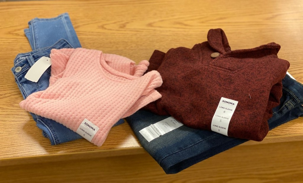 set of sonoma goods for life girls and boys clothes