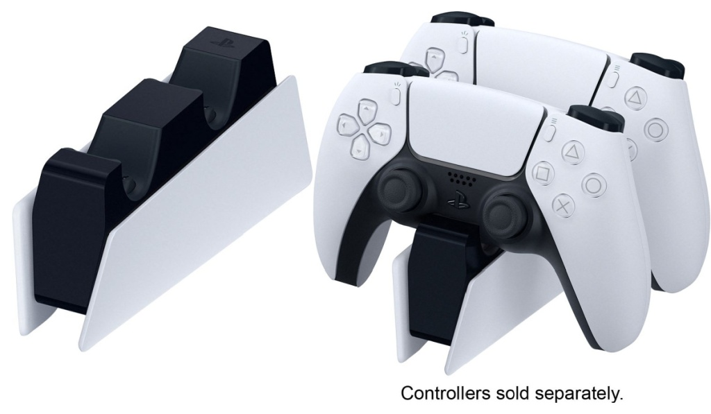 sony play station dualsense charger with remotes