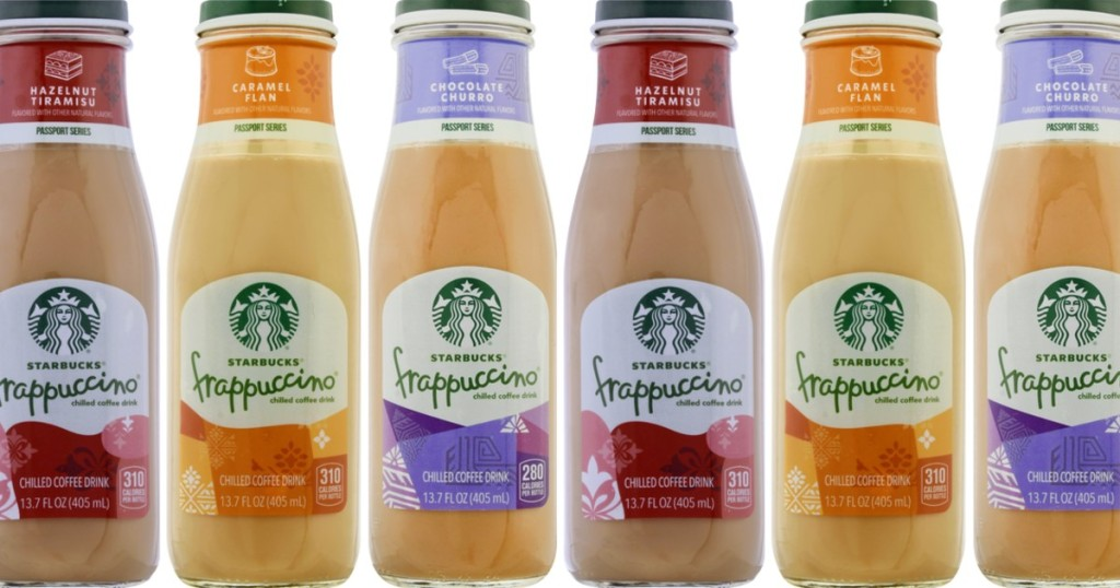 6 bottles of Starbucks chilled Frappuccinos