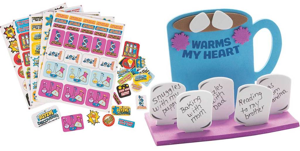 stickers and craft item stock image