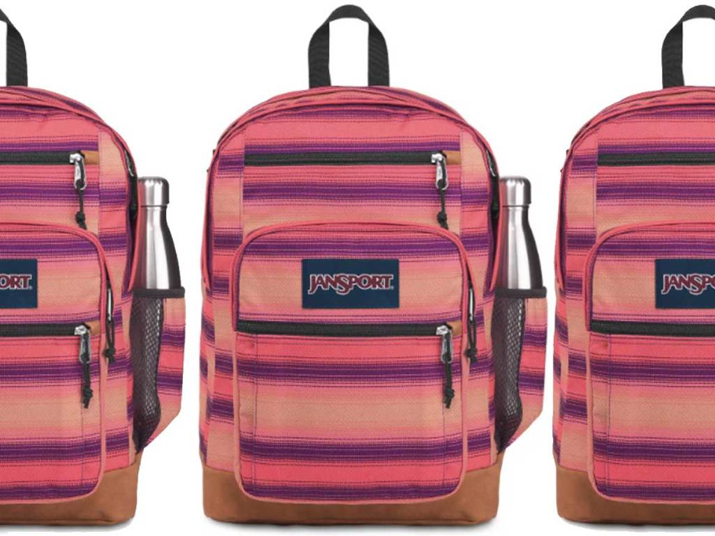 striped XL backpack stock image