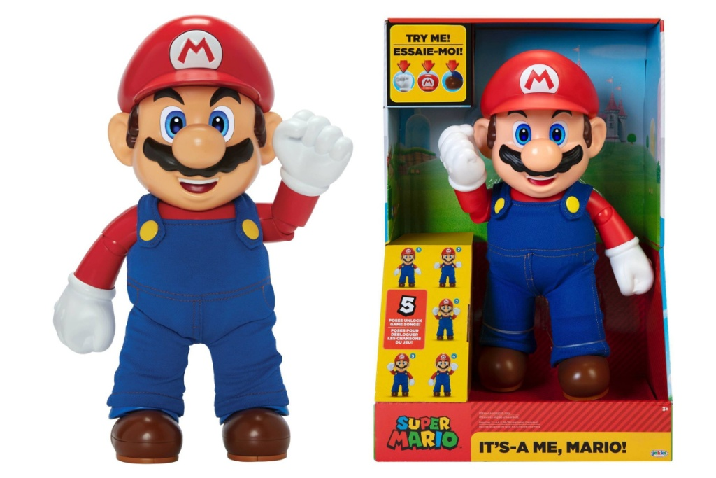 super mario figure in and out of box