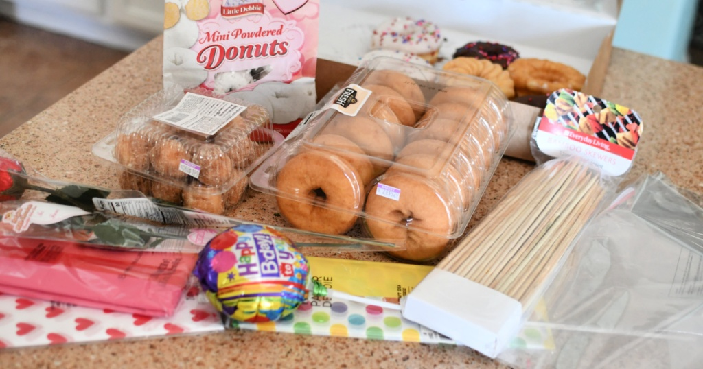 supplies for diy donut bouquets