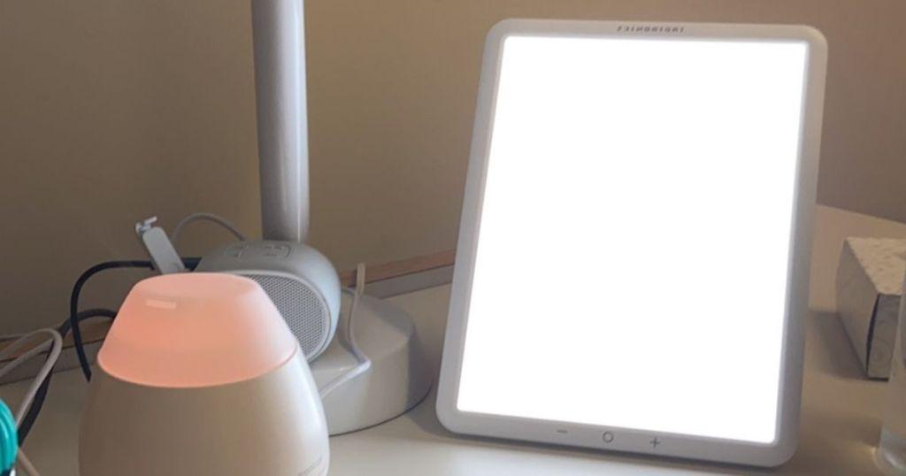 light box on desk