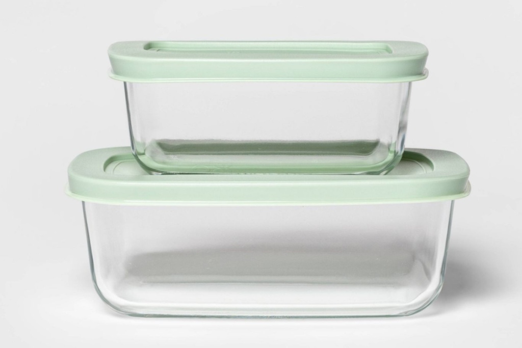 two room essentials rectangular containers stacked