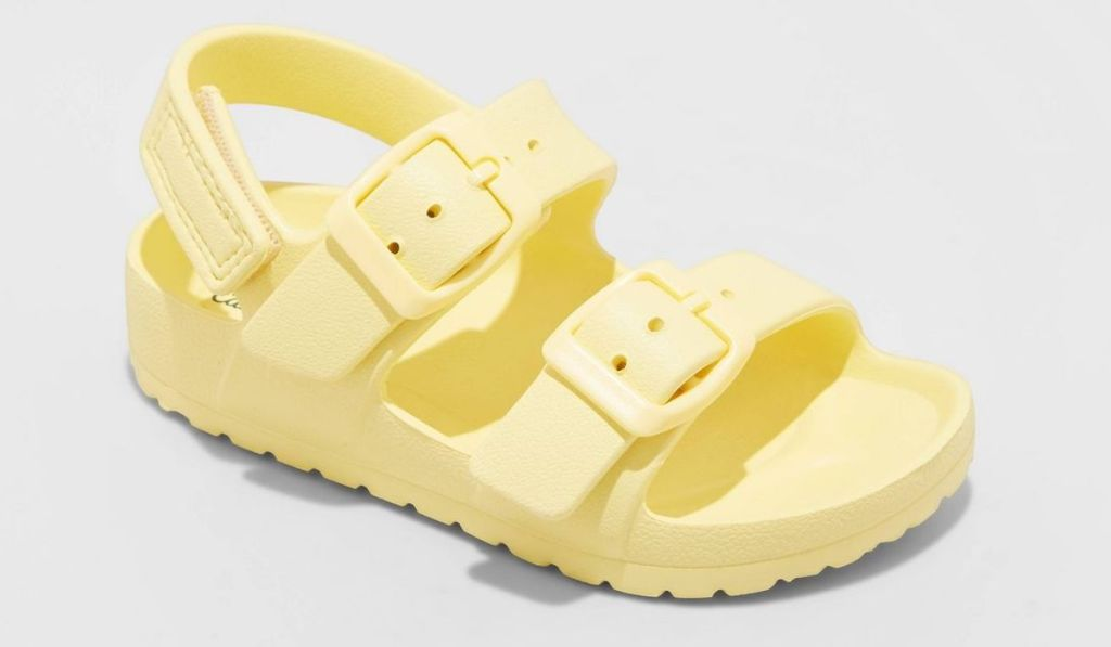 toddler sandal yellow with velcro