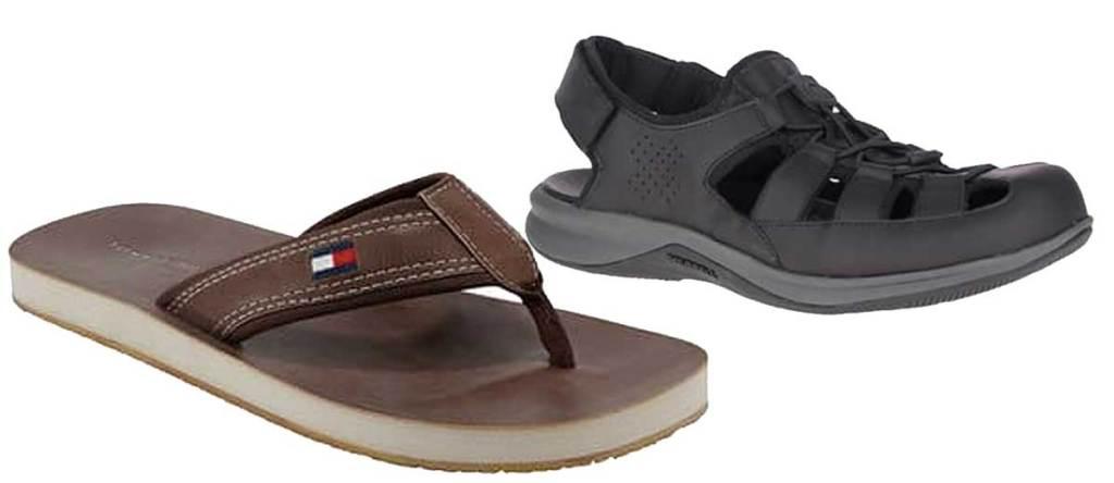 mens' flip flop and sandals